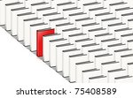 many books  only one red. ... | Shutterstock . vector #75408589