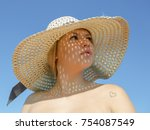 portrait of young woman in...   Shutterstock . vector #754087549