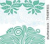 floral background. vector... | Shutterstock .eps vector #754089301