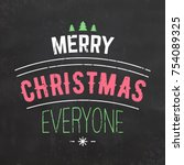 typographic christmas design  ... | Shutterstock .eps vector #754089325