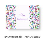 flyer design template with... | Shutterstock .eps vector #754091089