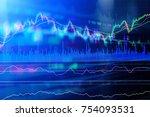 financial stock market graph... | Shutterstock . vector #754093531