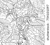 tracery seamless pattern.... | Shutterstock .eps vector #754101097