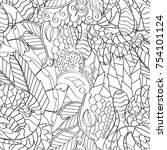 tracery seamless pattern.... | Shutterstock .eps vector #754101124