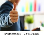male arm show ok or confirm... | Shutterstock . vector #754101301
