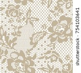 lace pattern in vector | Shutterstock .eps vector #754103641