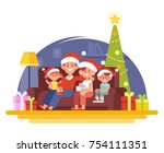 merry christmas and new year....   Shutterstock .eps vector #754111351