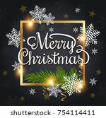 vector christmas greeting card. ... | Shutterstock .eps vector #754114411