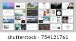 original presentation templates ... | Shutterstock .eps vector #754121761