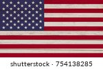 flag of united states on a... | Shutterstock . vector #754138285