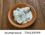 Small photo of gedlibzhe - Kabardian chicken in sour cream sauce