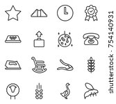 thin line icon set   star ...