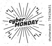 cyber monday sale label.... | Shutterstock .eps vector #754156651