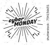 cyber monday sale label.... | Shutterstock .eps vector #754156651