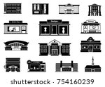 shops  markets and others... | Shutterstock .eps vector #754160239