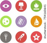 origami corner style icon set   ... | Shutterstock .eps vector #754160641