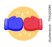 blue and red boxing glove icon  ... | Shutterstock .eps vector #754163284