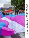 zagreb  croatia   june 11  2016 ... | Shutterstock . vector #754165045
