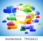 abstract colorful clouds... | Shutterstock .eps vector #75416611