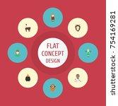 flat icons mythology  fire ... | Shutterstock .eps vector #754169281