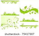 four green backgrounds. vector... | Shutterstock .eps vector #75417307