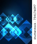 glowing squares in the dark ... | Shutterstock .eps vector #754176097