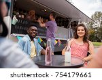 leisure and people concept  ... | Shutterstock . vector #754179661