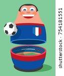 france soccer mascot | Shutterstock .eps vector #754181551