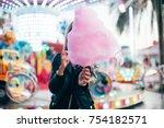 beautiful fashion model or cute ... | Shutterstock . vector #754182571