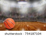 low angle view of basketball... | Shutterstock . vector #754187104