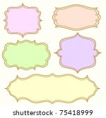 frame set  raster version | Shutterstock . vector #75418999