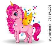 Pony Unicorn With Golden Wings...