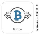 bitcoin cryptocurrency icon.... | Shutterstock .eps vector #754197121