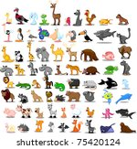 extra large set of animals...   Shutterstock .eps vector #75420124