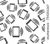 smartphone seamless pattern...   Shutterstock .eps vector #754201267