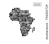 halftone map of africa | Shutterstock .eps vector #754201729