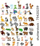 extra large set of animals... | Shutterstock .eps vector #75420259