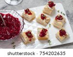 holiday appetizers with...   Shutterstock . vector #754202635
