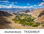 view of green indus valley and... | Shutterstock . vector #754204819
