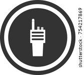 portable radio icon   dark... | Shutterstock .eps vector #754217869