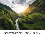 view with amazing himalayan... | Shutterstock . vector #754220719