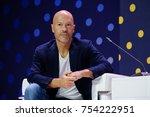 Small photo of Skolokovo, Russia - October 16, 2017: Russian celebrity Fyodor Bondarchuk speaking at Open Innovations 2017 forum