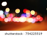 town at night. bokeh. | Shutterstock . vector #754225519