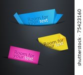 set of labels in the pockets   Shutterstock .eps vector #75423160