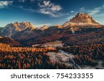 aerial view of national park... | Shutterstock . vector #754233355