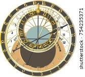 Zodiac Sign Clock   Vector...