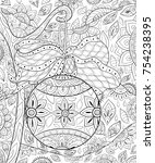 adult coloring book page the... | Shutterstock .eps vector #754238395