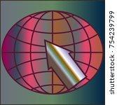 new colorful gradient www globe ... | Shutterstock .eps vector #754239799
