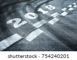 conceptual fast start to the... | Shutterstock . vector #754240201