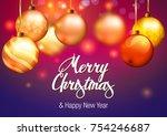 christmas. christmas background. | Shutterstock .eps vector #754246687